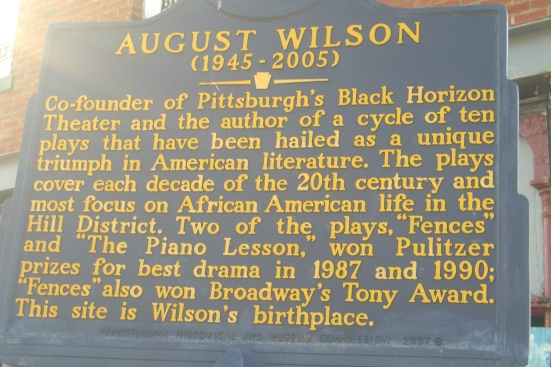 Historical Status Marker in front of childhood home of August Wilson. ©2015 RJ WAGG PHOTO
